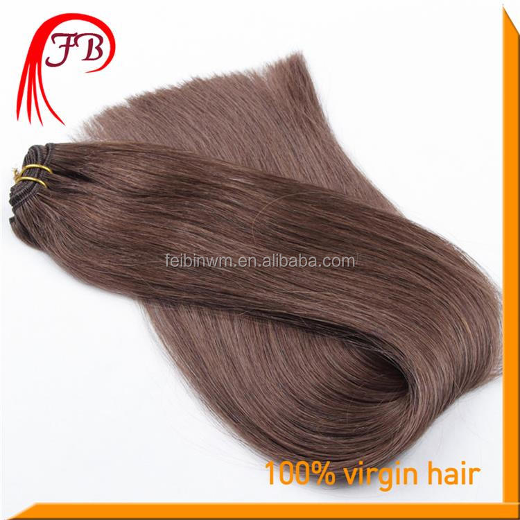 Natural 7A Human Remy Straight Hair Weft Color #2 Italian Wave Hair Weaving