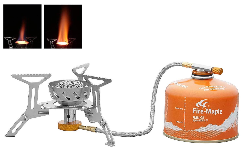 Hua si da HSD Ultralight Titanium Alloy Gas Camping Stove Outdoor Cooking Gas Burner Portable Folding Windproof