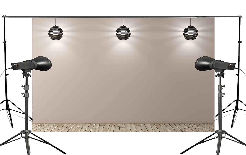 ERTIANANG Exquisite Flashlight Illuminated Under Gray Background Wooden Scene Attractive Backdrop Photo Studio Props 150x220cm