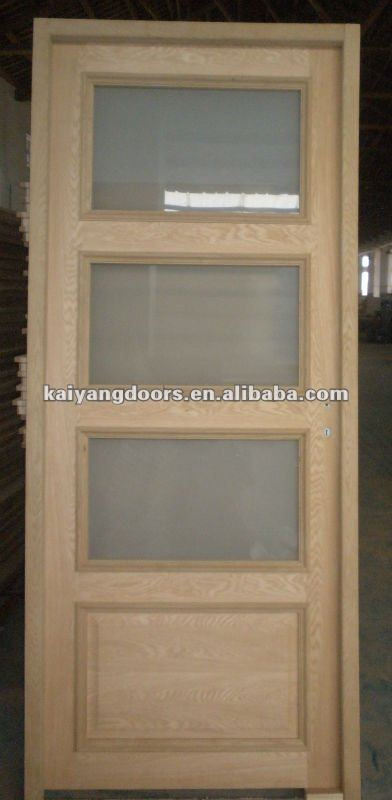 Kaiyang French style Engineer oak veneer composite glass door