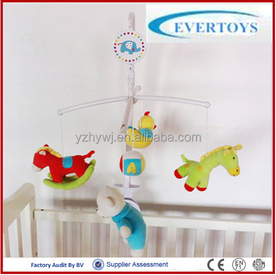 colourful attractive musical hanging plush toy baby crib bell