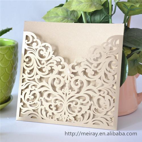 Best Selling Invitation Card Europe Design Love Themed White Wedding
