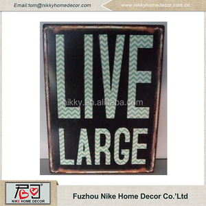 Hot selling products custom embossed tin signs
