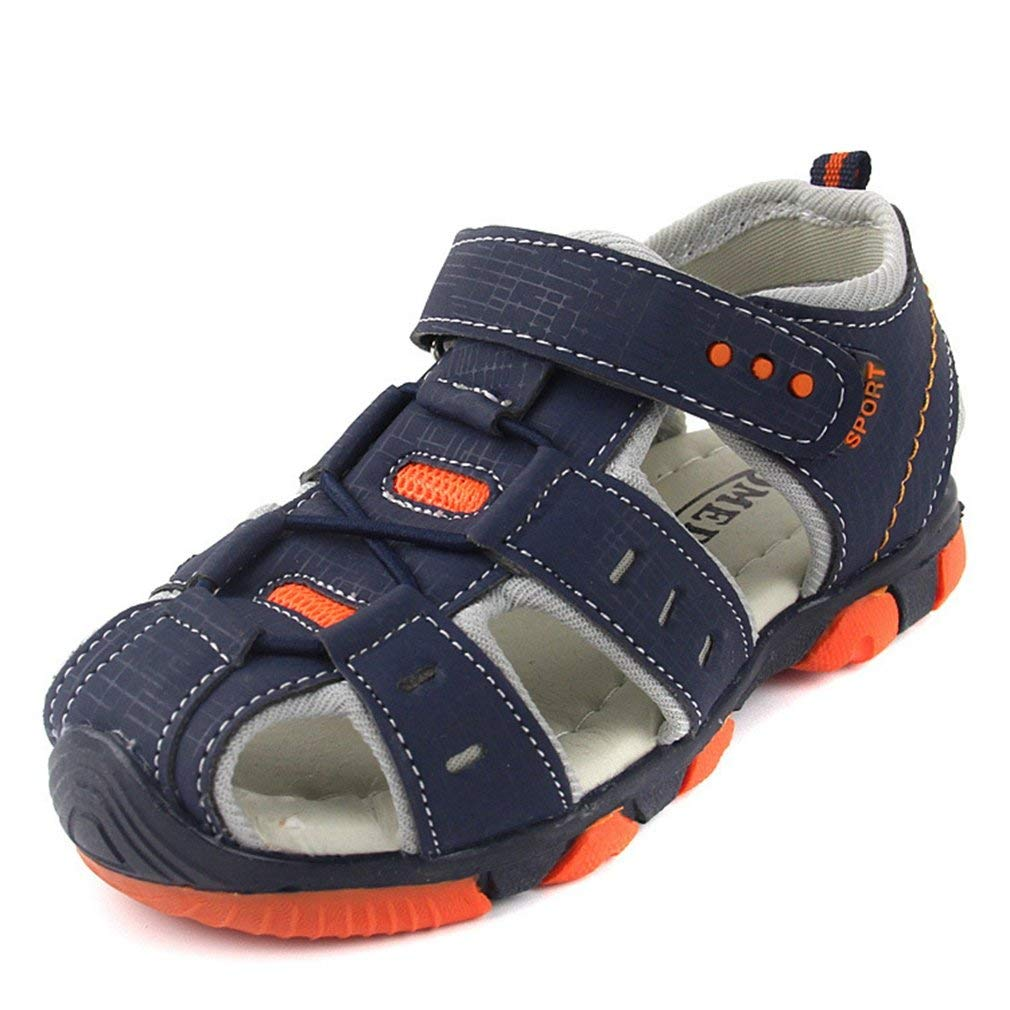 f2d9dd603f8 Get Quotations · CYBLING Boys Sport Sandals Summer Outdoor Breathable  Closed-Toe Strap Water Shoes (Toddler