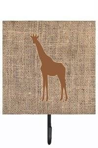 Caroline's Treasures BB1001-BL-BN-SH4 Giraffe Burlap and Brown Leash or Key Holder Bb1001, Small, Multicolor