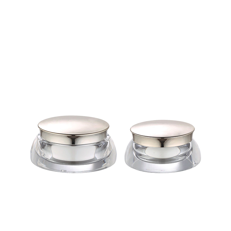30g 15g  skin care packaging cosmetic double wall clear acrylic jar with aluminum lid