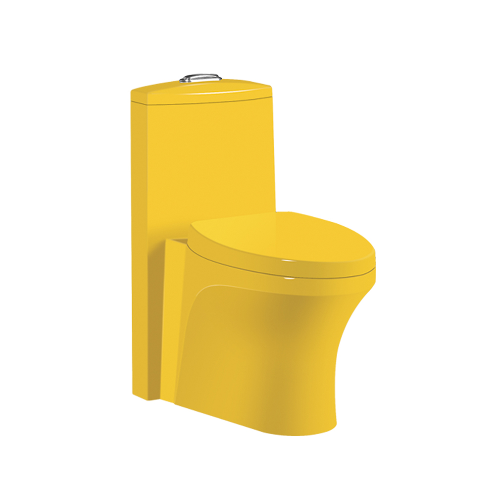 HS-8052 one piece yellow color toilet,toilets with bidet,toilet item