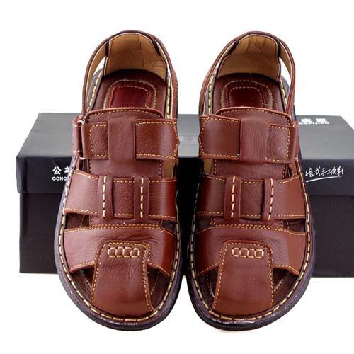 Hot sale men summer shoes Gladiator sandals men genuine