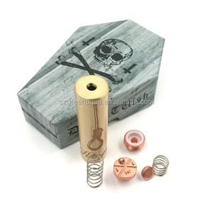 Ecig mods Wholesale deathwish mod competition brass deathwish 18650 mod