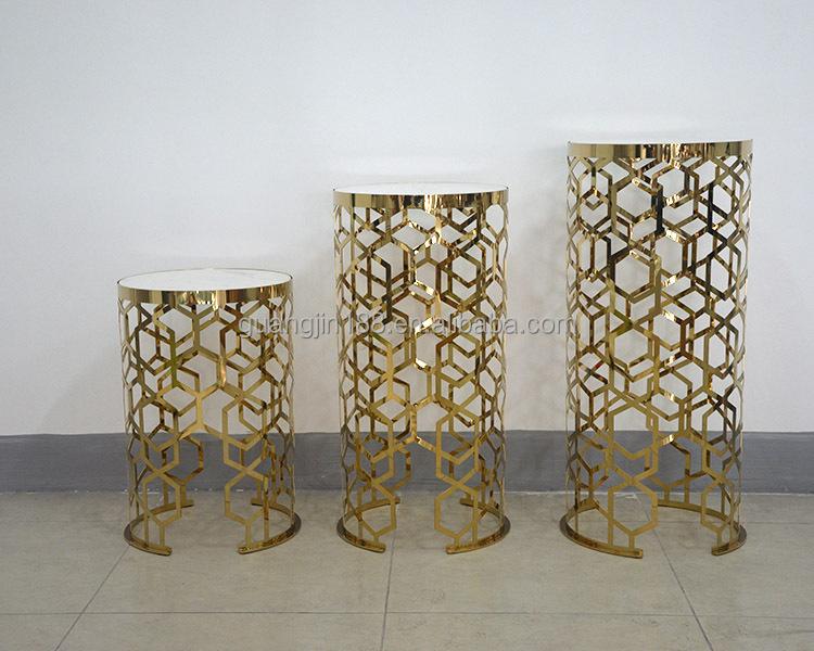 hohen blumenst nder modernen gold blumenst nder blumentopf. Black Bedroom Furniture Sets. Home Design Ideas