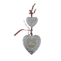 Cheap price hanging wooden hearts craft for home wall decor
