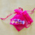 Wholesale felt organza red Christmas stocking candy bag for sweets