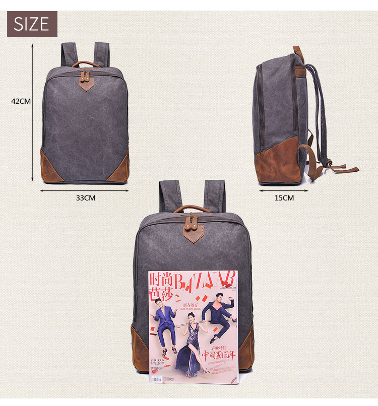 wholesale backpack manufacturers china custom hiking school outdoor waxed travelling canvas back pack