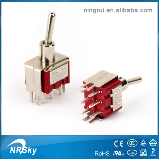DPDT Mini Toggle Switch ON-OFF-ON PCB-Mount Premium Quality USA Stock!!!