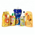 Customized Biodegradable Beverage Juice Packaging Stand Up Spout Disposable Drinking Bag Pouch