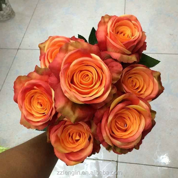 7 Heads Realistic Artificial Fake Rose Flower Bouquet Bunch Wedding Home Decoration