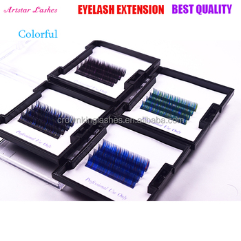 20a52377d4f Qingdao CK Beauty Co., Ltd 0.07 /0.10 mm Colors Rainbow Individual Eyelash  Extensions