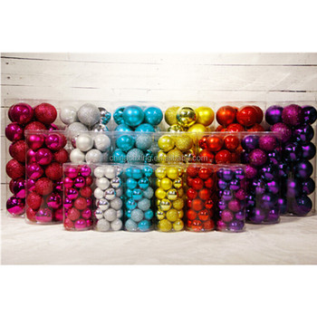 10cm large outdoor christmas balls hanging on the christmas tree - Large Outdoor Christmas Balls