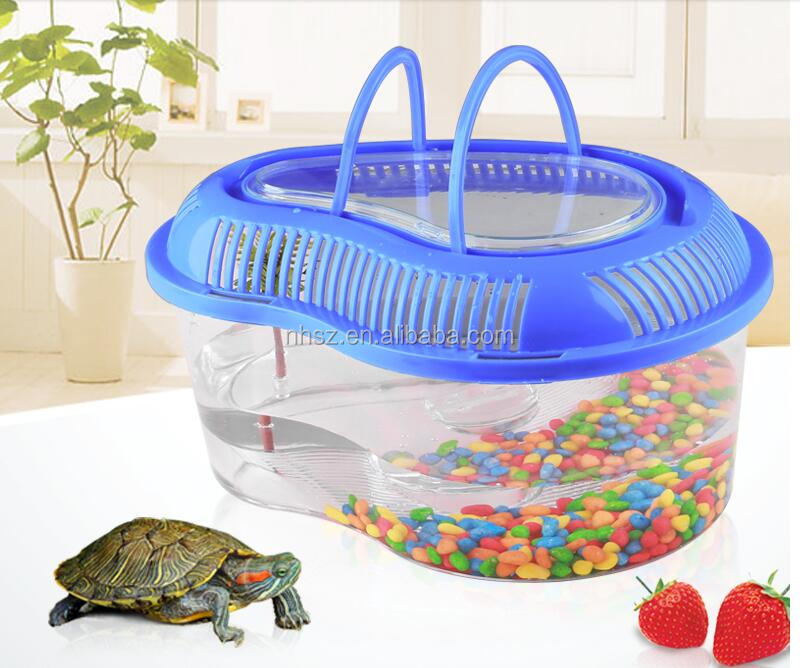 Plastic Pet Fish Tank Turtle Breeding Cage Fish Tank For