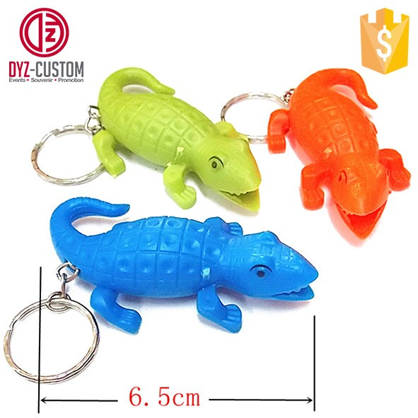 crocodile shape led keychain with light and sound.jpg