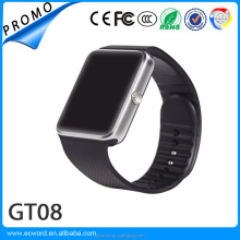 Korean mobile phone Android Smart Watch GT08 with 1.54inch 240*240px Touch screen MTK6261D 32MB+32MB 0.3MP Camera