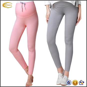 0dcbf0b82429fa Ecoach Wholesale Comfortable elegant women maternity wear leggings 2016  pure color full length fitness leggings with