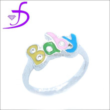 Factory direct sale 925 silver jewelry, Handmade Silver cute baby ring