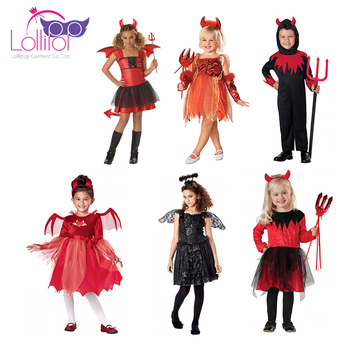 Halloween carnival costumes china wholesale boys girls devil halloween costoms