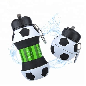 2018 Amazon Top Silicone Football Collapsible Sport Water Bottle