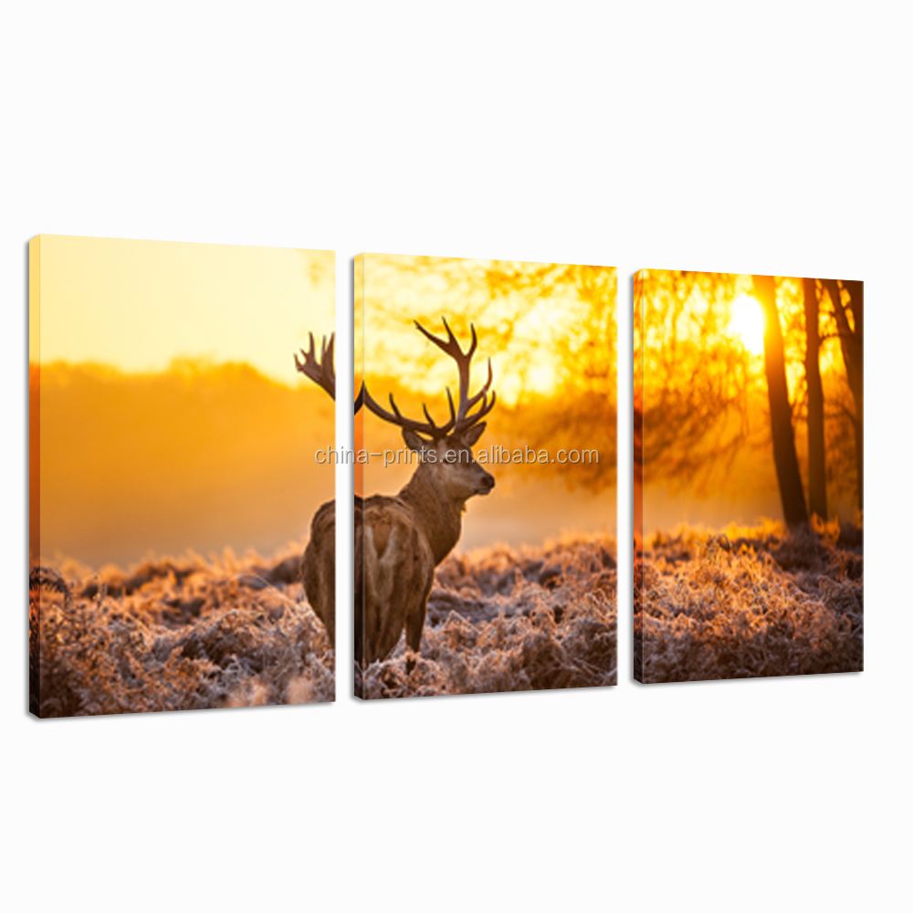 Deer At Dusk Digital Canvas Printing/animal Modern Wall Art/art ...