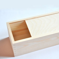 Dongguan factory Custom unfinished wood box with sliding lid