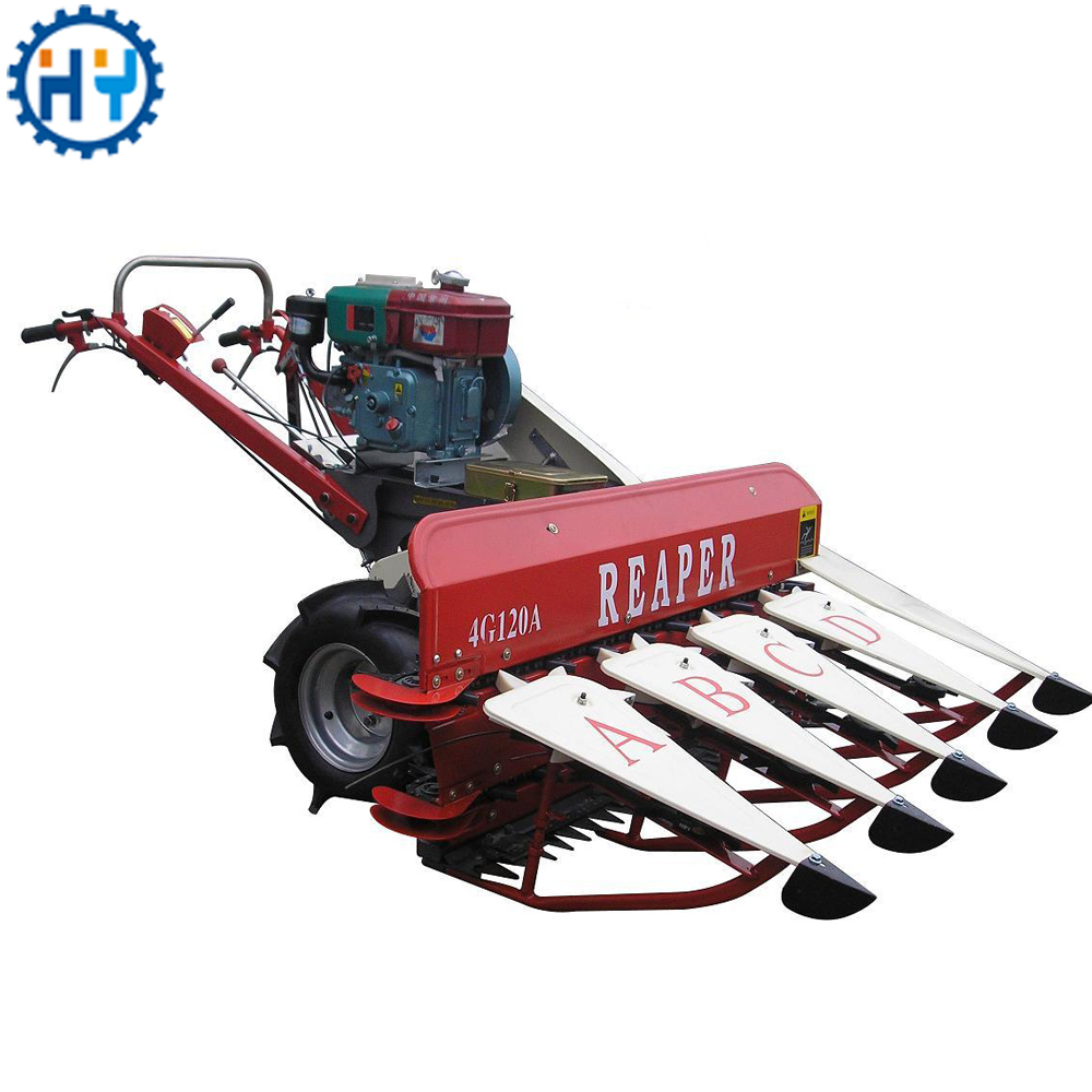 Gasoline engine chickpea harvester