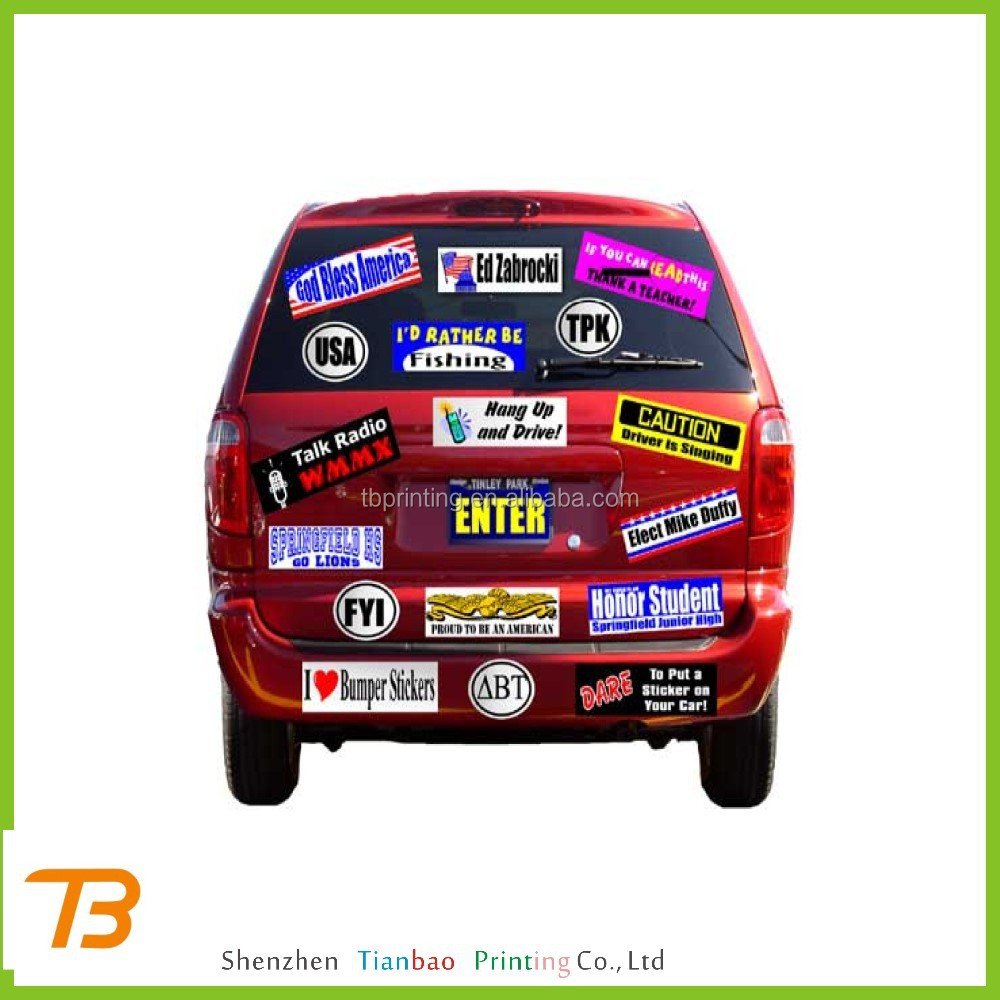 Waterproof Car Bumper Stickers Waterproof Car Bumper Stickers - Custom car bumper stickers
