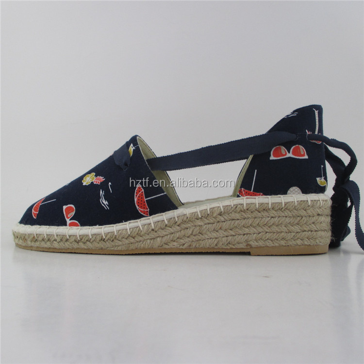 2017 new design espadrilles wholesale china shoe