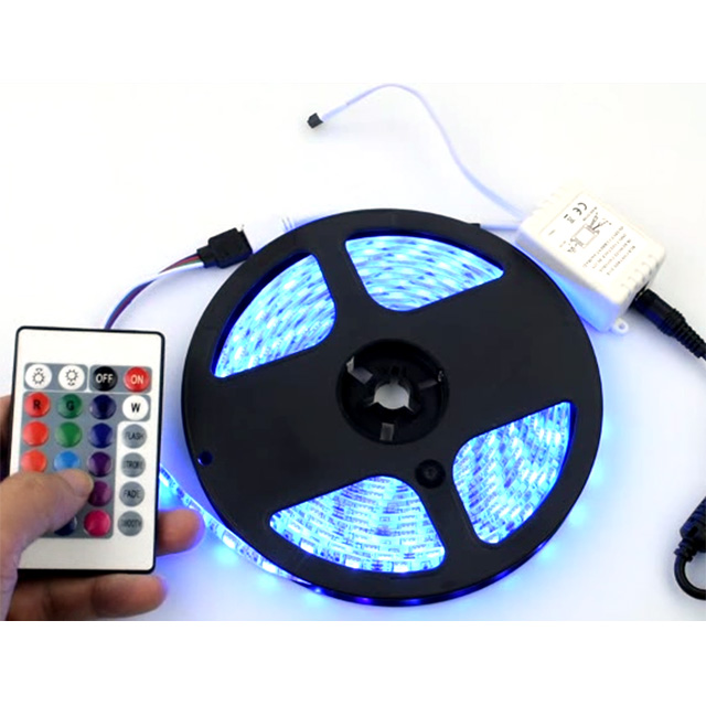 Rocky Light Led Strip Lights  Color Changing for Bedroom,Room and Home Decoration RGBW flexible 120leds with remote controller