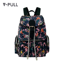 2018 OEM designer floral nylon backpack manufacturers China wholesale bag women backpack