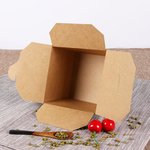 Four Corner food grade food packing fast food meal kraft paper lunch box