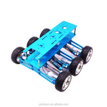 Yahboom 6WD Arduino Uno aluminum alloy electric smart robot chassis car kit with 6pcs 370 motor