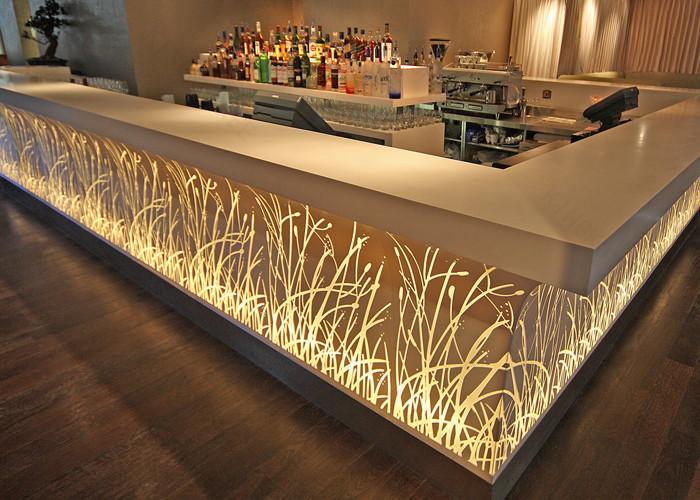 Moderne Fabrication Comptoir Commercial Rception Bar