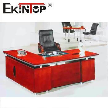 China Office Furniture Desk Manufacturers Luxury Wooden With Side Table