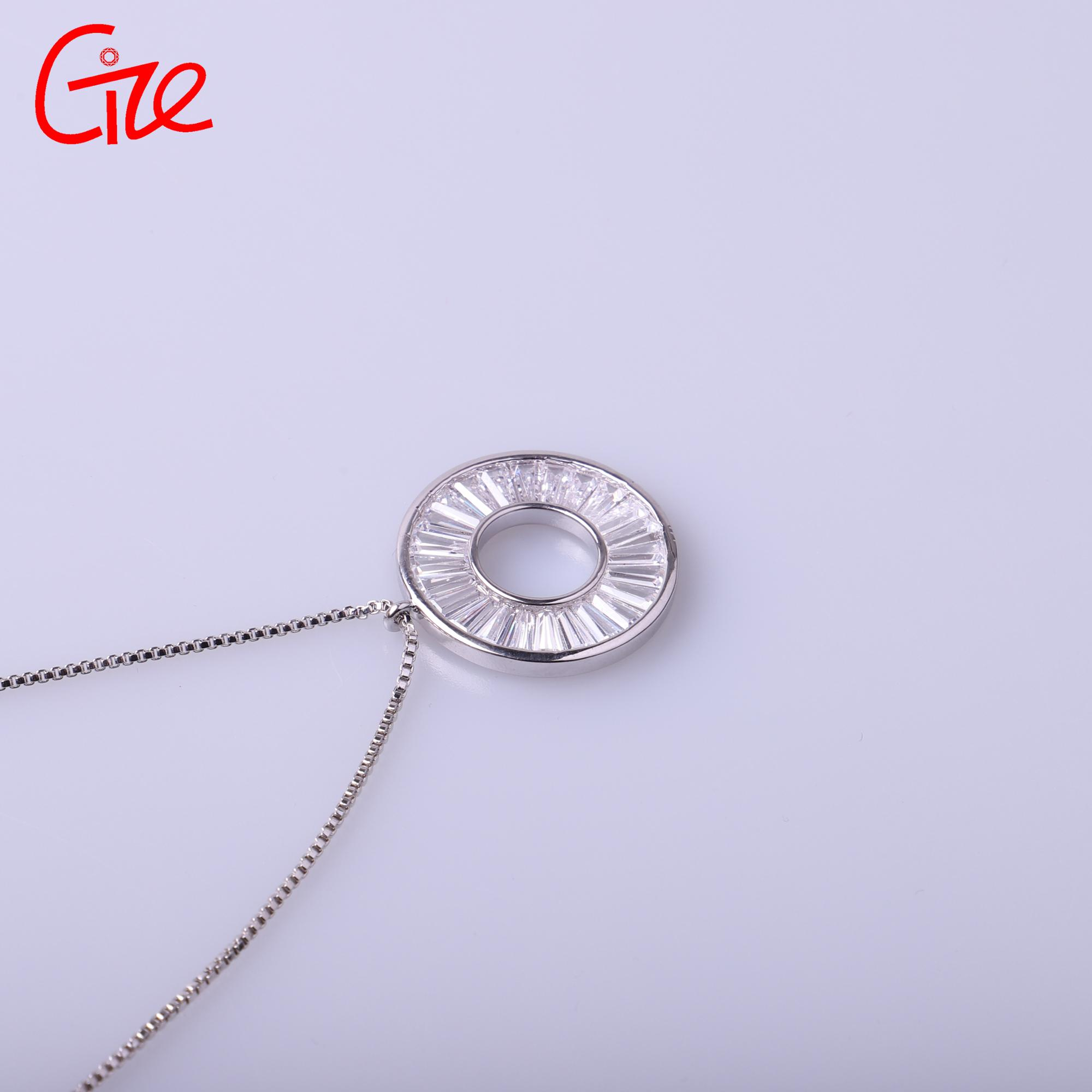 wholesale semi joias jewelry to Brazil quantum round gold pendant necklace