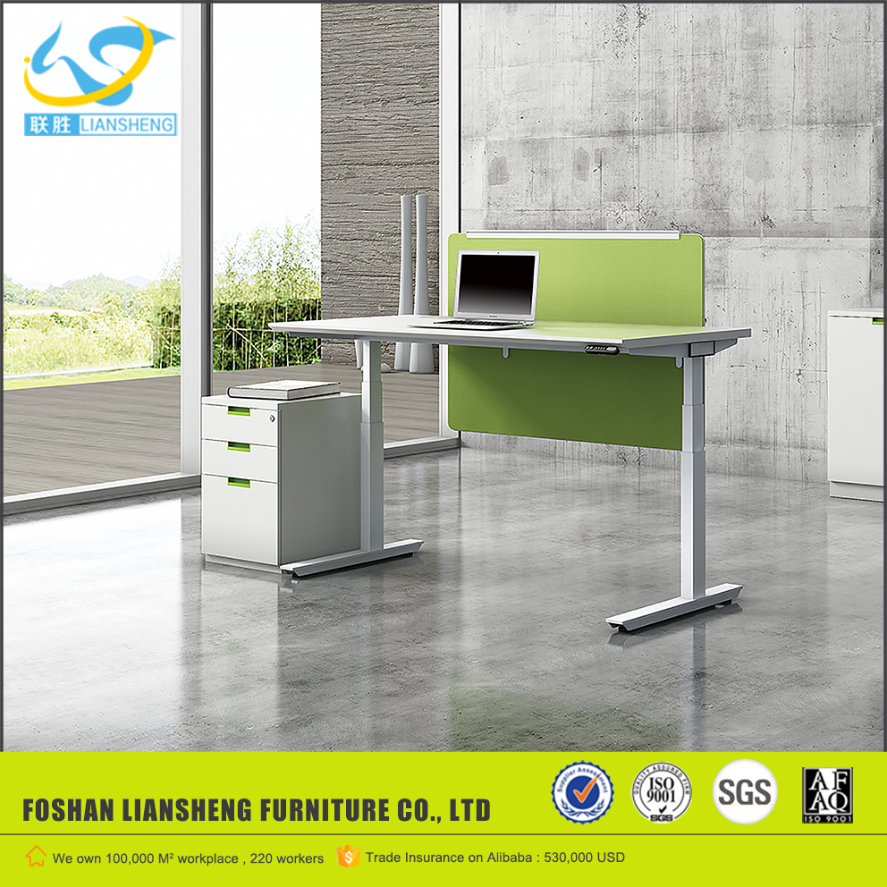 l shaped desk office furniture electric height adjustable table lift mechanism electric