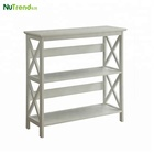 Wide corner wall wood Book Case with 2 tier racks designs