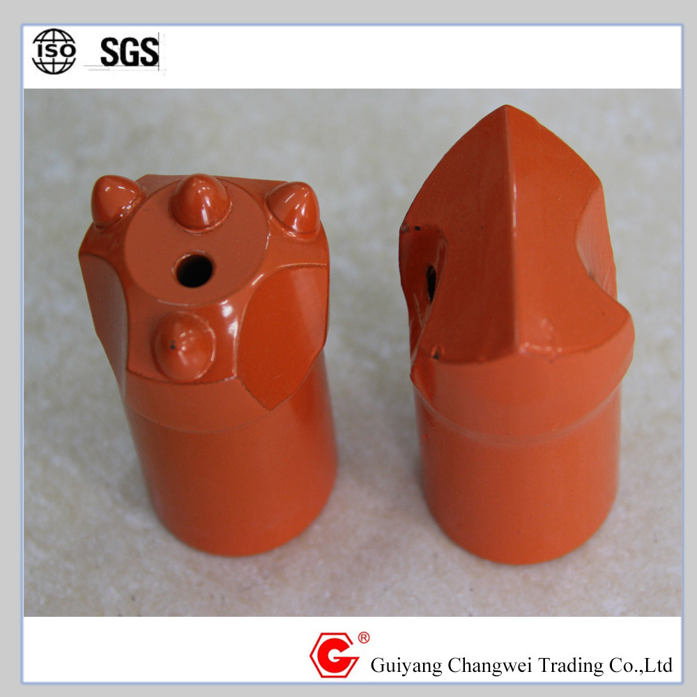 Taper r square hole drill bit of rock tools