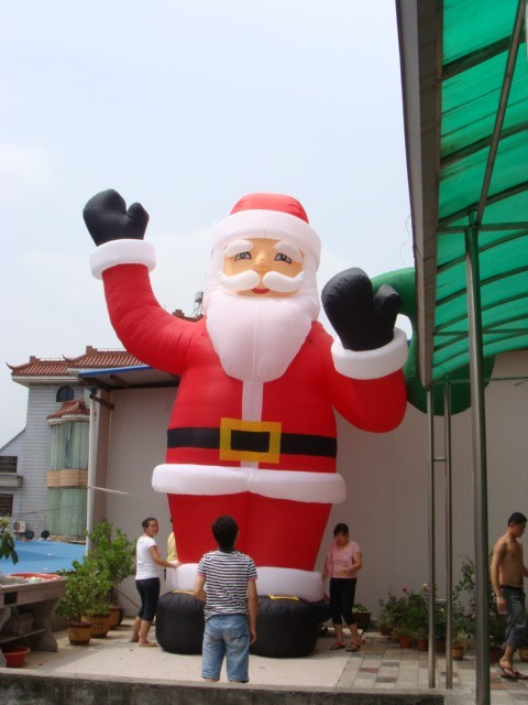 2018 hot sales decoration inflatable christmas santa claus