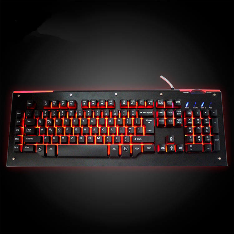 3 colors backlit illuminated keyboard for gaming