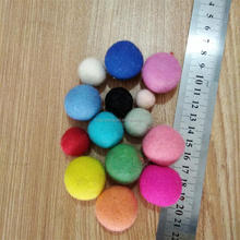 Wholesale nepal wool felt ball felt ornament christmas garland with balls