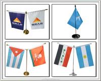 fashion table flag , desk flag , silk flag