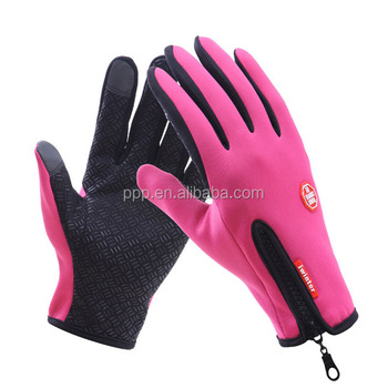 Winter Outdoor Water Resistance Gloves High Sensitive Touch Action Cycling Gloves