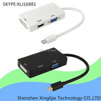 3 in 1 Thunderbolt Mini Displayport DP to VGA HDMI DVI Adapter Cable for MacBook Pro MacBook Air